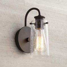 Kichler Braelyn 9 High Olde Bronze Wall Sconce is a quality Bathroom Lighting for your home decor ideas. Black Wall Sconce, Bronze Wall Sconce, Rustic Wall Sconces, Bathroom Wall Sconces, Candle Wall Sconces, Outdoor Wall Sconce, Wall Sconce Lighting, Bathroom Lighting, Copper Wall