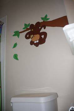 boys' monkey bathroom