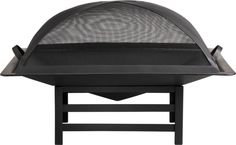 Black Square Firepit in Fireplace Accessories | Crate and Barrel