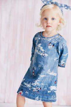 new kids fashion ideas: Denim Lighthouse Embroidered Denim Dress from Next Cute Kids Fashion, Tween Fashion, Girl Fashion, Fashion Outfits, Fashion Clothes, Fashion Ideas, Fashion Trends, Dresses For Teens, Little Girl Dresses