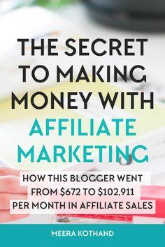 In this post I interview Michelle who makes over $50,000 each month in affiliate sales and ask her some tough questions about affiliate marketing and the mistakes and myths bloggers make and have about it via Meera Kothand (Blogging Email List Tips)