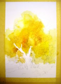 How to paint Foliage Using Negative Painting in Watercolor