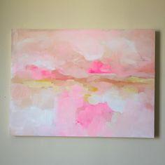 Malibu - Original Fine Art by Megan #abstract #art #pink