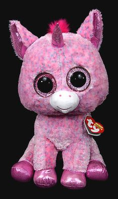 Rosey (large) - unicorn - Ty Beanie Boos Ty Toys 4191e6ffc45a
