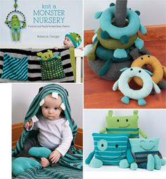 KNIT A MONSTER NURSERY. If only I knew how to do stuff like this!!