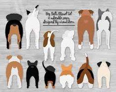 Front of Dog Butts Clipart Graphics Sitting Dogs Illustrations Pitbull Corgi Doxy Husky Boxer Beagle Poodle Bulldogs Basset Pug Rottweiler Akc Dog Breeds, Small Dog Breeds, Rottweiler, Animals And Pets, Cute Animals, Dog Clip Art, Custom Dog Portraits, Pet Portraits, Dog Illustration