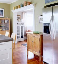 This craftsman style kitchen with wide beautiful doorways and light spacious feel is breathtaking. I love the shelf above the door. Shelf Over Door, Door Shelves, Shelving, Style At Home, My Living Room, Kitchen Styling, Home Projects, Home Kitchens, Home Remodeling