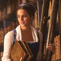 "Emma Watson as Belle in the upcoming (live-action) ""Beauty & the Beast"""