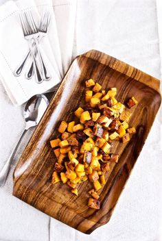 Maple Roasted Butternut Squash with Thyme | Modern Granola | Easy, delicious, and simple butternut squash roasted in maple syrup, and fresh thyme. So good!