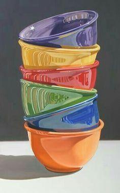 six stack by Daryl Gortner A Level Art, Realistic Paintings, Still Life Art, Ap Art, Photorealism, Arte Pop, Art Plastique, Painting Inspiration, Bunt