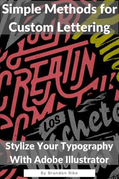 You don't need to know how to hand letter and draw to create custom typography. In this class, you'll learn three methods for creating custom typography and how to differentiate between high and low-quality letterforms. Learn the efficient workflow, so your projects aren't bogged down during the lettering process. Both beginners and professionals will learn new ways of working in Adobe Illustrator to produce rockstar-quality custom type. Art & Design | Drawing & Illustration #craftskill…