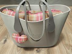 obag; grigio i różowa krata; grey & pink; myobag my bag;