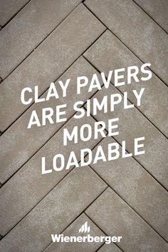 Clay pavers are simply more loadable Clay Pavers, Walkway, Brick, Landscape, Sidewalk, Runway, Bricks, Walkways, Street