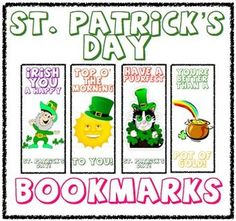 St. Patrick's Day Bookmarks:  A Great Gift For Your Students!