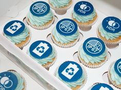 Samsung logo promotional cupcakes - Beach House Bakery - cakes and cupcakes Bristol & The West Country Mini Cupcakes, Cupcake Cakes, Samsung Logo, Edible Printing, Event Branding, Bakery Cakes, Fashion Branding, Event Decor, Bristol