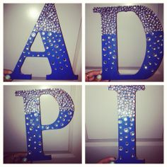 DIY Alpha Delta Pi letters #greek #adpi