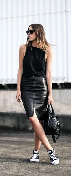 Via Riches for Rags | Leather Skirt