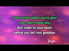 Karaoke Listen To Your Heart - Roxette * - YouTube