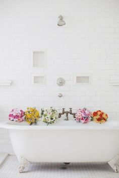 We LOVE this!!!.....Amazing way of using a simple Metro/Subway tile and some Dado Borders.......