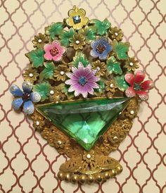 Antique Beautiful Victorian Revival Flower by VintageGemsAndPurls