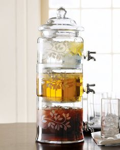 Stacked Glass Beverage Server - $390