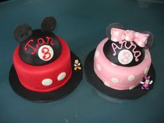 Mickey and Minnie Cakes from hawaiidermatology.com