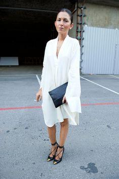 beautiful, minimal dress, white, #minimalist #fashion