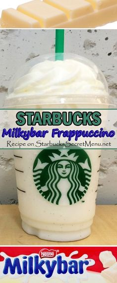 Starbucks Milkybar Frappuccino! #StarbucksSecretMenu Delicious white chocolate? Yes please!