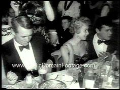 Cary Grant, Janet Leigh and Tony Curtis, Golden Globes 1959 newsreel | Golden Age of Hollywood
