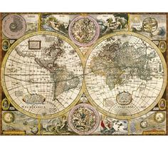 Old Map - 3000 pieces - High Quality Collection - Clementoni