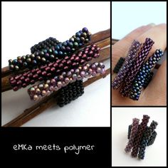 21/9 Emma... TOHO beads September 2013, Beaded Bracelets, Beads, Rings, Jewelry, Pictures, Beading, Jewlery, Jewerly