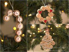 A buscar todos los corchos que tienes en casa para hacer estas tres originales y navideñas propuestas de adornos DIY!