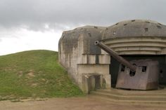 "Point du Hoc Normandy, France - The German ""pillboxes"" left behind from the  D-Day landings.  It is here the Army Rangers scaled the cliffs at Omaha Beach to give the Americans a foothold. Don't miss this!!"