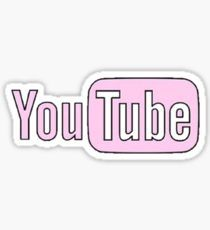 Pink Youtube Sticker