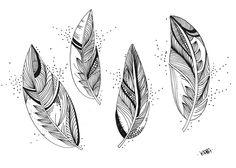 Le Creazioni di Kiara: crazy for DOODLING #11 ... FEATHERS ... piume piumette e piumaggi!
