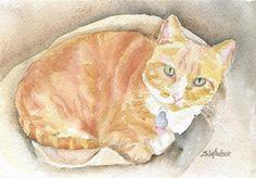 Custom Pet Portrait Watercolor Painting - 5 x 7 - Cat Portrait - Dog Portrait - Bunny Portrait