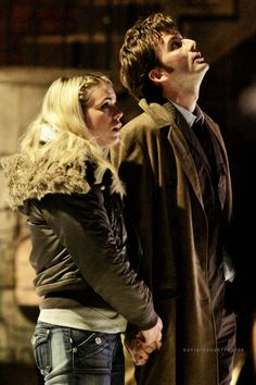 David Tennant and Billie Piper. My favorite doctor and companion! But Donna is coming really close :)