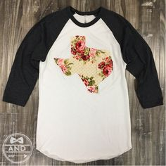 Shabby Chic and oh so sweet. The comfiest baseball tee you'll ever own