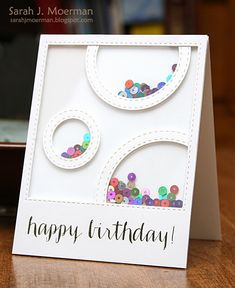 Resultado de imagen de ideas for shaker cards Handmade Birthday Cards, Greeting Cards Handmade, Birthday Card For Girl, Kids Birthday Cards, Unicorn Diy, Karten Diy, Shaker Cards, Card Making Inspiration, Card Tags