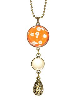 Orange Blossom Necklace - Joli 2014. Orange Blossom also available in a ring and earrings. Available from www.fabuleuxvous.com Blossom Flower, Orange Blossom, Jewelry Shop, Delicate, Pendant Necklace, Earrings, Vintage, Ear Rings, Jewlery