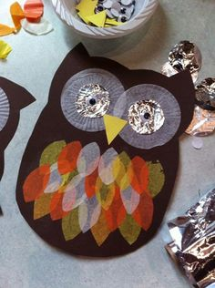 fantastic owl craft idea! (thanks to Messy Church Oakley / Bromham)