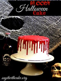 Bloody Halloween Cake Tutorial | by Say it With Cake