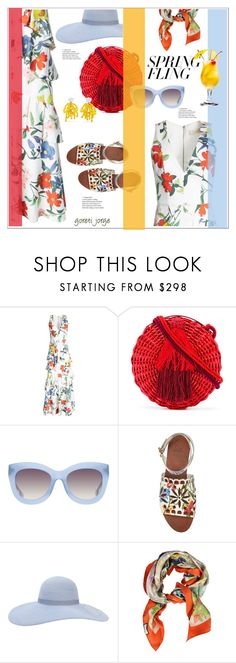 """""""Warmer Days Ahead: Spring Dresses"""" by goreti ❤ liked on Polyvore featuring WAIWAI, Alice + Olivia, Tory Burch, Eugenia Kim, Gucci, Marni, springfashion, polyvoreeditorial, polyfriends and springdresses"""