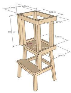 Tour D Observation Montessori, Ikea Montessori, Chaise Ikea, Construction For Kids, Learning Tower, Diy Stool, Kitchen Room Design, Kitchen Helper, Kitchen Stools