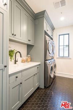 Laundry Room Photo 18 of 26 in Modern Farmhouse by LA Light Photography Mudroom Laundry Room, Laundry Room Remodel, Farmhouse Laundry Room, Laundry Room Organization, Laundry Room Design, Farmhouse Bedding Sets, Modern Laundry Rooms, Laundry Room Inspiration, New Homes