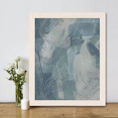 Abstract print, forest decor, blue room art, modern beach house, coastal living, tropical artwork, nautical decor print - Rainforest 1
