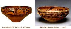 Influenţele civilizaţiei CUCUTENI: YANGSHAO, China (5000-3000 î.e.n.) Decorative Bowls, China, Tableware, Home Decor, Dinnerware, Decoration Home, Room Decor, Tablewares, Dishes
