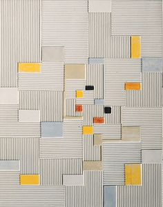 Adolf Fleischmann | German, 1892-1968 Relief painting / Oil and corrugated board on canvas