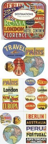 Cavallini Destinations Travel Stickers