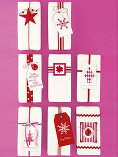 Use leftover pieces from your paper stash to create one-of-a-kind holiday gift tags.